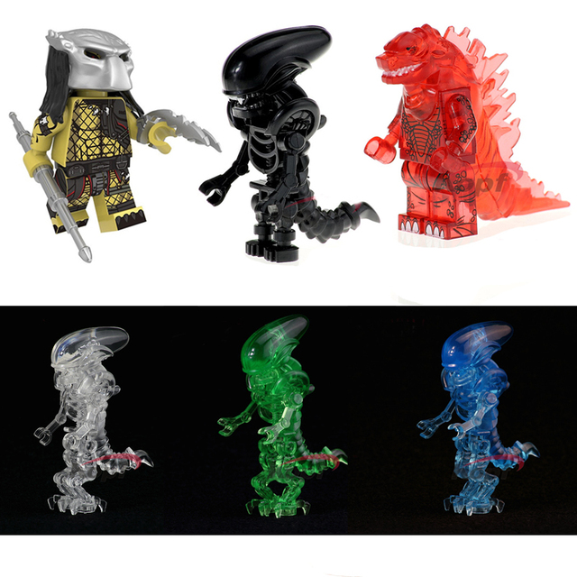 Baustein Spielzeug Monster Bausteine puppen Predator soldat modelle spielzeug Figur Für Kinder kinder Geschenk