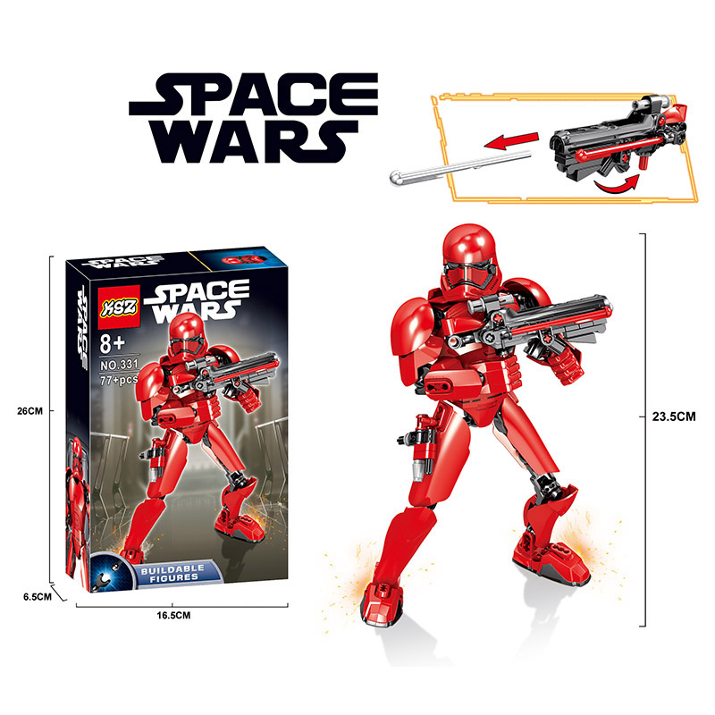 New Star Wars Episode IX Building Blocks Bricks StarWars Figures Toys Brick Head With Legooinglys Toy For Children