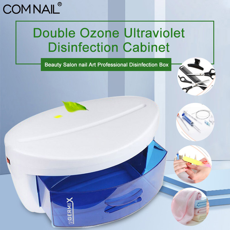 Sterilizer For Nail Art Tool Disinfection Box Small 360 Range Double Ozone Ultraviolet Disinfection Cabinet Manicure Box Machine