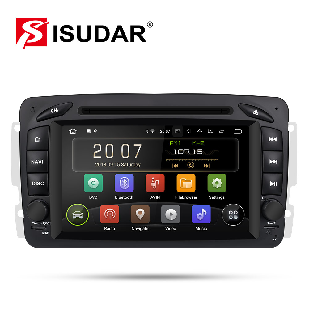 9 2 Isudar reprodutor multimídia Carro Android Din GPS Autoradio Para Mercedes/Benz/CLK/W209/W203 /W208/W463/Vaneo/Viano/Vito DSP FM DVR