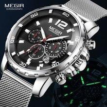 MEGIR Chronograph Quartz Watches for Men 2020 Luxury Top Bra