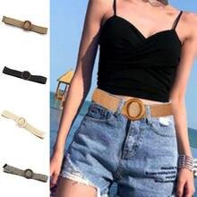 2020 fashion square bucklet intrecciato cintura vestito da estate della boemia della cinghia delle donne donne coreane vestito di Jeans di plastica paglia Intrecciata Cintura