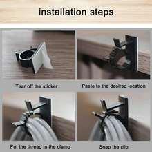 10 шт кабельный зажим самоклеящийся автомобильный шнур провода