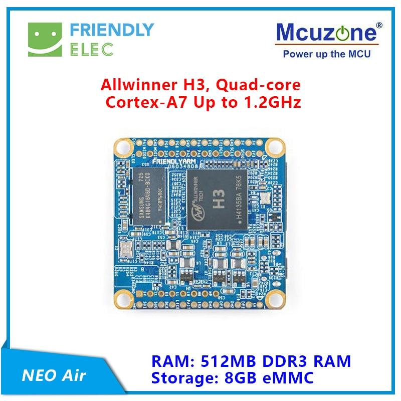 FriendlyELEC NanoPi NEO Air 512MB RAM WIFI&Bluetooth,8GB/32GB EMMC Allwinner H3 Quad-core Cortex-A7