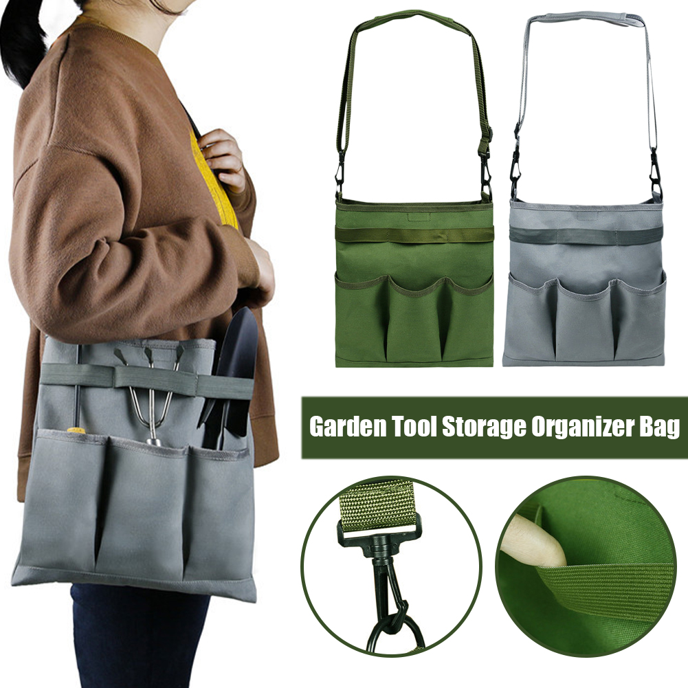 Garden Multifunctional Tool Bags 1680D Oxford Cloth Electrician Bags Waterproof and Wear-Resistant High Capacity Storage Bags
