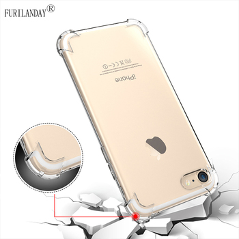Transparent Shockproof Case For iPhone 11 Pro X Xr Xs Max Soft Silicone Airbag Case 6 6s 7 8 Plus 5 5S SE 2020 11 4 Back Cover image