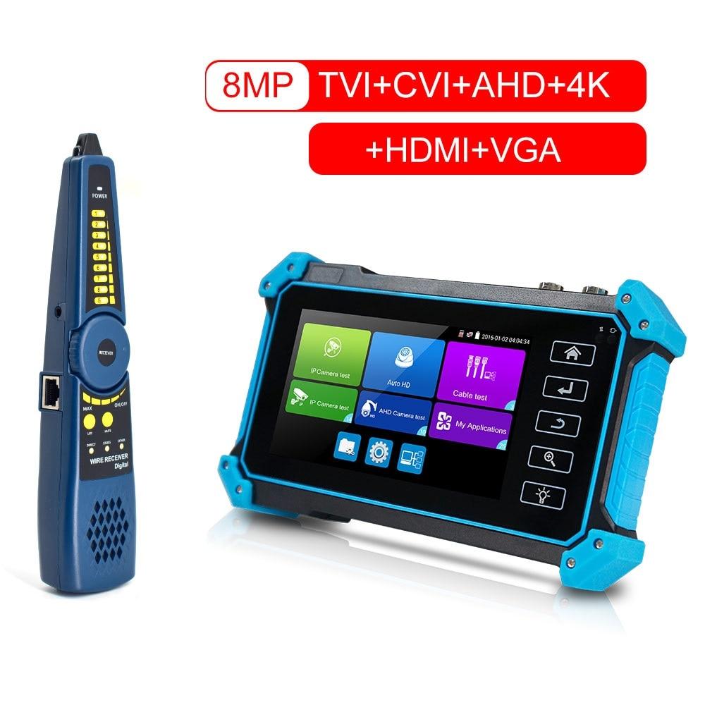 5inch 4K HDMI VGA POE IP Tester Video IPC CCTV Tester AHD Ip Camera Testers Test Camera CCTV Tester Monitor Camera Testers TVI