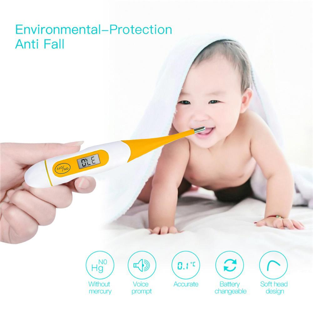 No Mercury Electronic LCD Digital Display Baby Thermometers Kids Adult Body Temperature Measuring Oral Underarm Thermometer