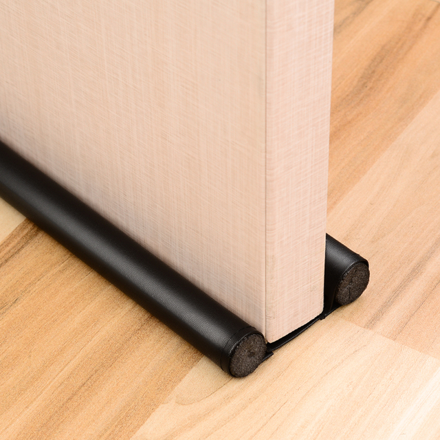 Foldable Under Door Draft Stopper Washable Leather Door Seal Strip Sound Proof and Dust Proof  Window Waterkering Strip