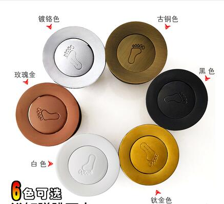 6 Colors Black/chrome Bathtub Drain Valve Copper, Bouncing To The Water Bath Tub Drain Valve Brass Foot Stepping Style