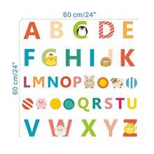 cartoon animals english alphabet wall decals bedroom nursery home decor teaching tools stickers