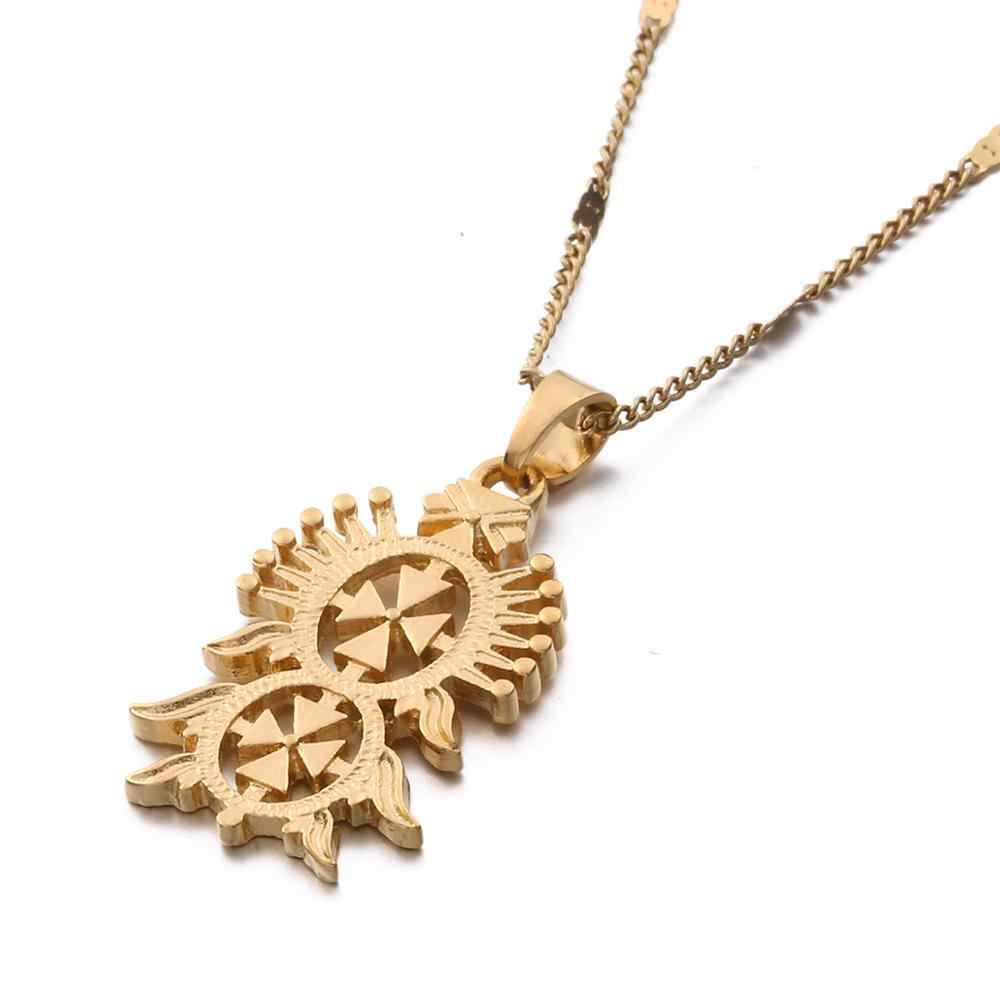 Warna Emas Scorpion Liontin Kalung Zodiak Rasi Astrologi Trendi Perhiasan Rantai