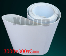 3000x300x3mm PVC White Transmission Conveyor Belt Industrial Belt