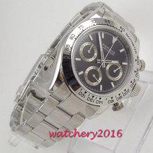 цена Parnis Quartz Chronograph Watch Men Top Brand Luxury Pilot Business Waterproof Sapphire Crystal Men's Watch Relogio Masculino онлайн в 2017 году