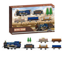Electric rail train Classic  track train Simulation model with Light Children  Railway Train  independent assembly