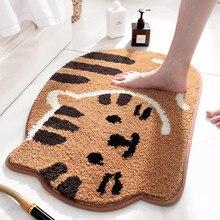 Irregular 3D Cat Shape Carpet Living Room Bedroom Cartoon Hallway Doorway Floor Mat Kitchen Rugs Entrance Doormats tapis salon