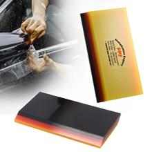 FOSHIO 3 שכבה רך מגב סיבי פחמן מדבקת Remover רכב לעטוף ויניל סרט להתקין 2in1 מגרד חלון גוון רכב ניקוי כלי