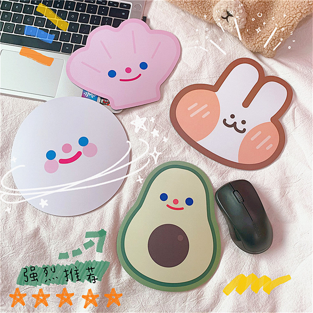 Cute Cartoon Creative Mini Computer Mouse Pad Cute Smiley Cloud Avocado Mouse Pad Trumpet Gaming Mouse Pad Girl Mouse Pad