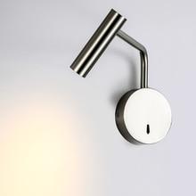 Zerouno 침실 임베디드 LED 벽 조명 침대 옆 독서 램프 접는 마운트 벽 램프 호텔 카페 각도 조절 벽 Sconce