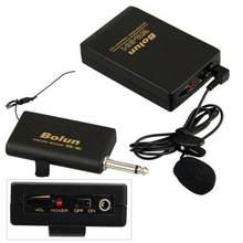Wireless Mikrofon System mit Sender & Empfänger Tragbare Clip-on Mikrofon für Lehre Öffentlichen Sprechen WR601