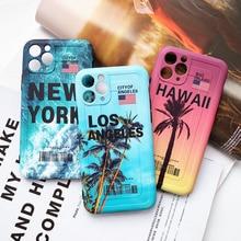 Coconut tree sea beach scenery Phone Case For iPhon