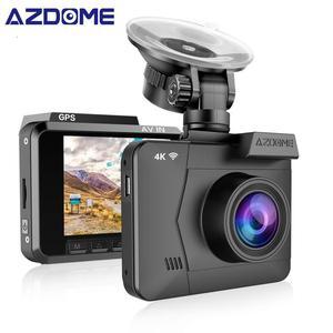 AZDOME M06 Dash Cam 4K Construido en WIFI GPS GPS G-Sensor Monitoreo de estacionamiento Grabación en bucle Coche Dvr WDR Cámara de visión nocturna para automóvil