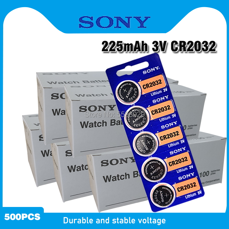 500pcs For SONY 2032 <font><b>battery</b></font> <font><b>cr2032</b></font> cr 2032 5004LC KL2032 SB-T15 3v Button Cell Coin Lithium <font><b>Batteries</b></font> for Watch Computer Toys image
