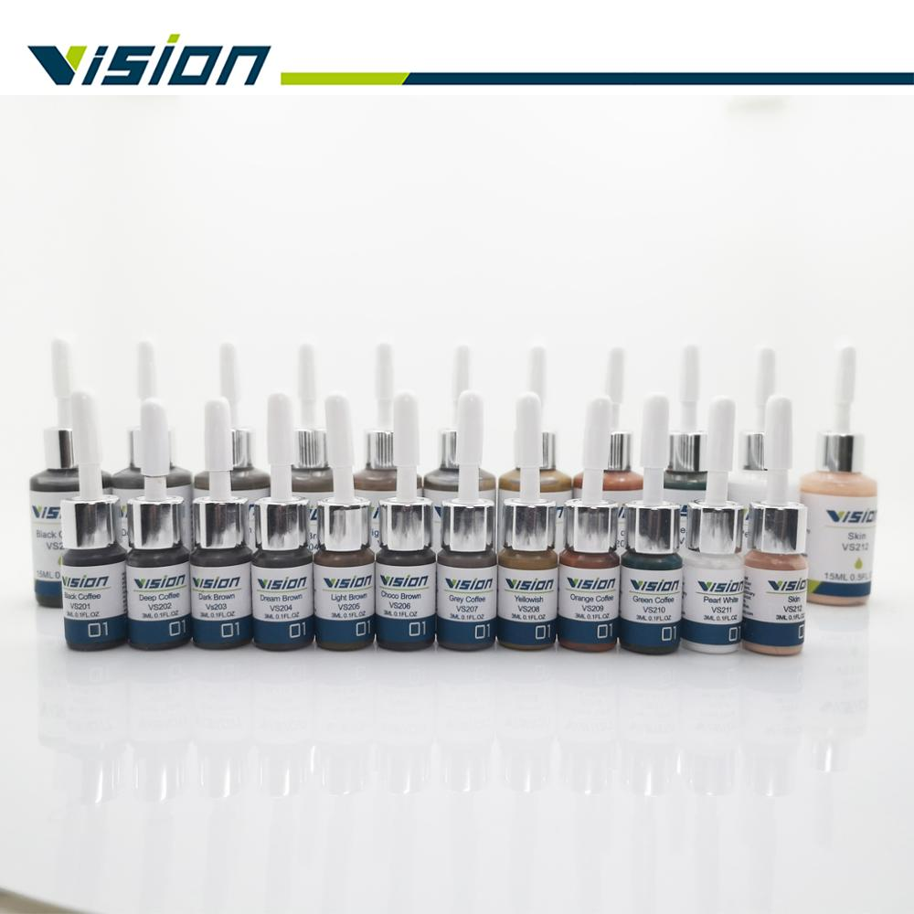 Vision Pigment Original  Microblading Pigment Pure Micropigment Permanent Makeup Tattoo Inks For Eyebrow Eyeliner Lip