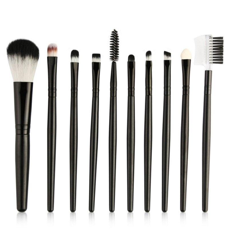 10 Pcs Soft Eye Makeup Brushes Set Powder Foundation Eyeshadow Eyebrow Blending Make Up Brushes Cosmetics Tools