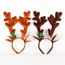 Nowy wesołych łoś bożonarodzeniowy jelenie rogi pałąk poroża reniferów opaski do włosów kostium na przyjęcie bożonarodzeniowe dostarcza wystrój bożonarodzeniowy opaska tanie tanio CN (pochodzenie) Christmas Headbands Cloth Christmas Party China