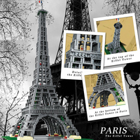 8015 Paris Eiffel Tower construction compatible with 10181 17002 city street brick toy gifts for children