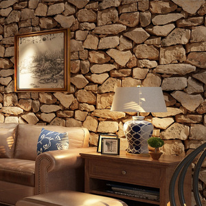 Vintage 3d Wallpaper Roll Stone Home Decoration Living Room Bedroom Background Wall Sticker Vinyl 4d Waterproof 3d Wall pape(China)