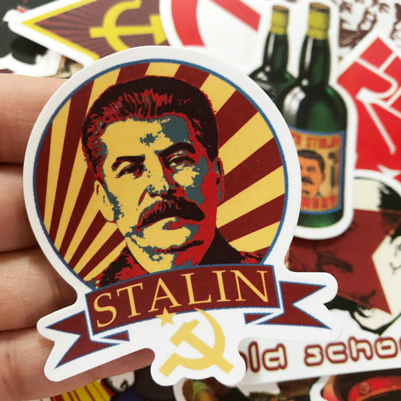 50Pcs Russia Great Man Soviet Union Stalin Ussr Cccp Graffiti Stickers For Laptop Skateboard Luggage Funny Graffiti Pegatinas