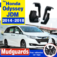 For Honda Odyssey JDM 2014 2015 2016 2017 2018 Mudflaps Splash Guards Front Rear Mud Flap Set Molded Mud Flaps Mudguards Fender set molded mud flaps for honda fit jazz 2014 2017 mudflaps splash guards front rear mud flap mudguards fender 2015 2016