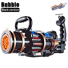 TOP Summer Large Bubble Machine Wedding Supplies Electric Sound And Light Automatic Bubble Blower Maker Gun Kids Outdoor Toy