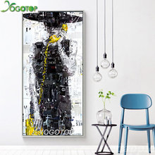 large 5d mosaic rhinestone embroidery Romantic Painting Abstract Calling Girl for Girls Noframe diamond paint hobby YY1829(China)