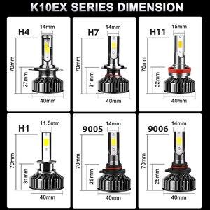 Image 5 - Lâmpada H7 HLXG Mini H4 luces LED Longe 12V 10000LM Acessórios Lâmpada Do Farol Do Carro 10000K 5000K 6000K 8000K H11 9005 HB3 9006 HB4 H8