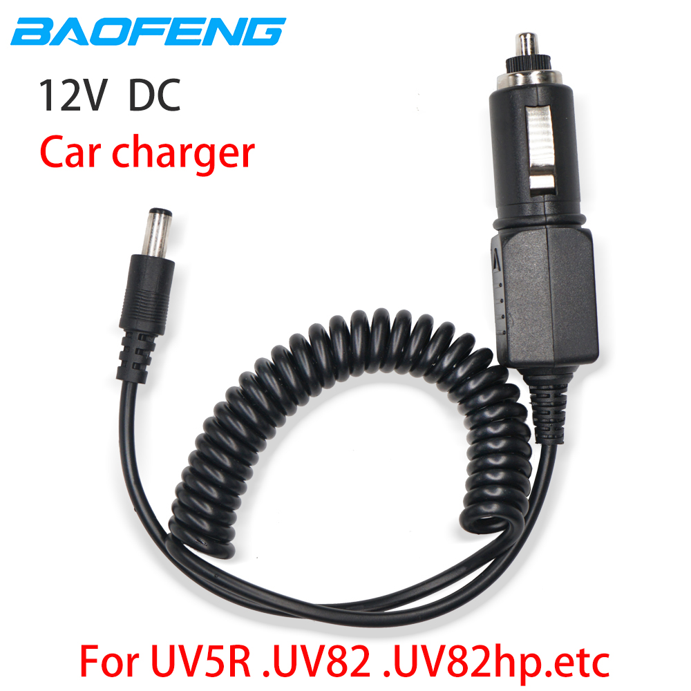 Original Baofeng 12V DC Car Charger Cable Line For Baofeng UV-5R UV-82 UV82hp UV5R UV-9R Plus UV9R Walkie Talkie Accessories