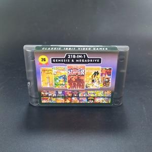 Image 2 - 2G משחק כרטיס 218 ב 1 סוללה לחסוך עבור Sega Genesis Megadrive וידאו קונסולת משחקים עם פנטזית כוכבים השני IV צלבני של Centy לטפטף