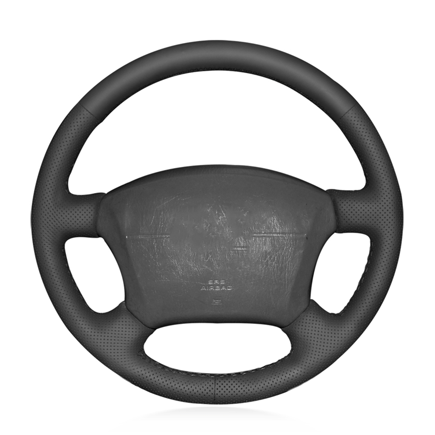 Hand-stitched Black Artificial Leather <font><b>Car</b></font> Steering <font><b>Wheel</b></font> <font><b>Covers</b></font> for <font><b>Toyota</b></font> Land Cruiser Prado 120 2004-2009 Land Cruise image