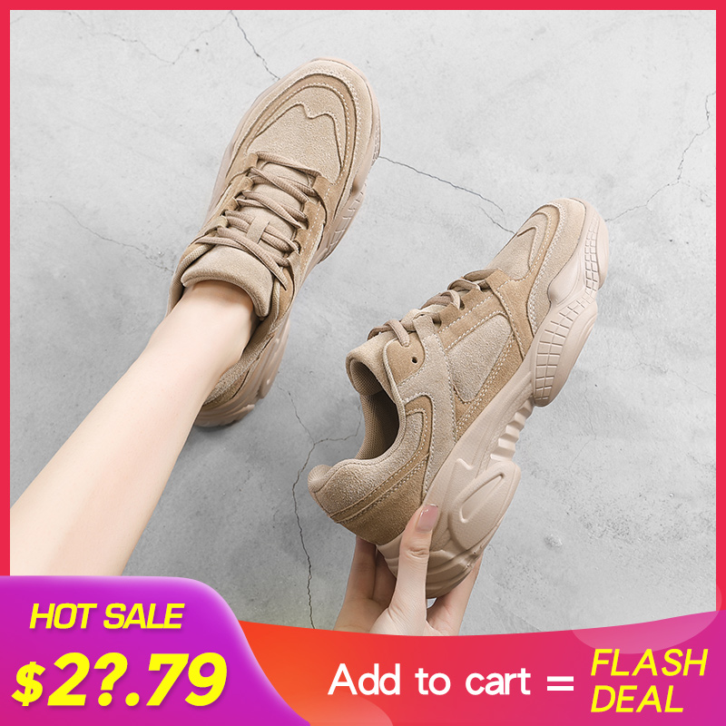 Women Sneakers Shoes White 2020 Spring Sport Thick Sole Lady Leisure Shoes Lace Up Comfortable Women Chunky Sneakers 932555|Women's Vulcanize Shoes| - AliExpress