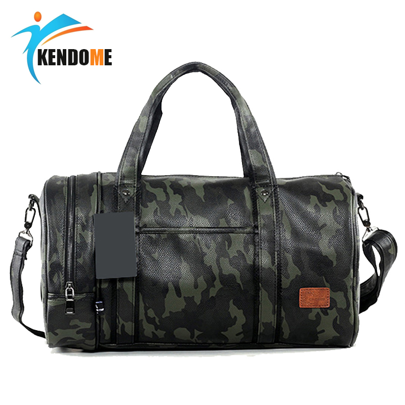 Outdoor Sports Training PU Leather Gym Shoulder Bags For Men Women Travel Training Fitness Bag Portable Multifunction Handbags
