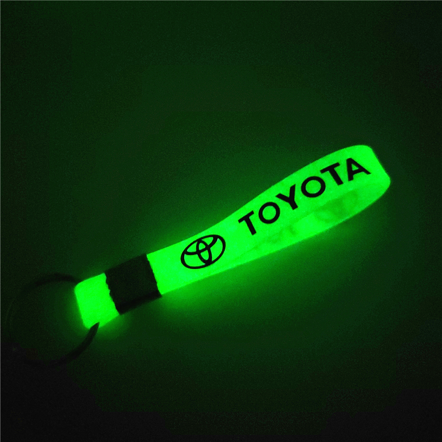 Luminous Green Car Keychain KeyRing For Toyota Camry Chr Corolla Rav4 Yaris Prius Accessories Car-Styling