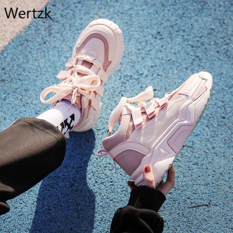 Best Sale #a5af 2019 Women Platform Chunky Sneakers 5cm