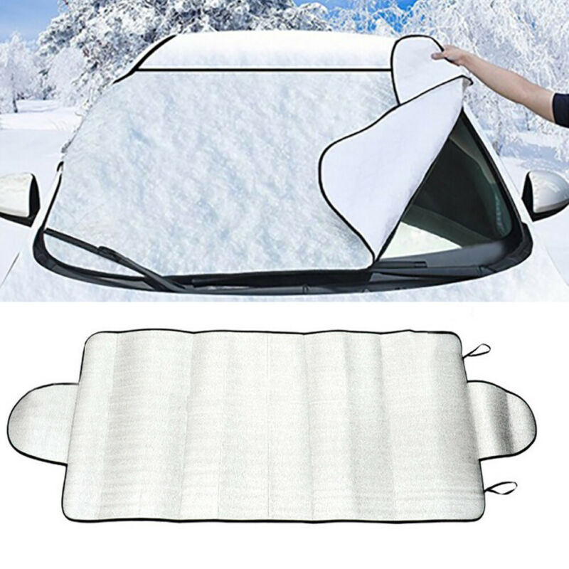 Universal Car Windshield Snow Cover Winter Ice Frost Guard Sunshade Protector Weather Proof Winter Appliances Auto Accessories