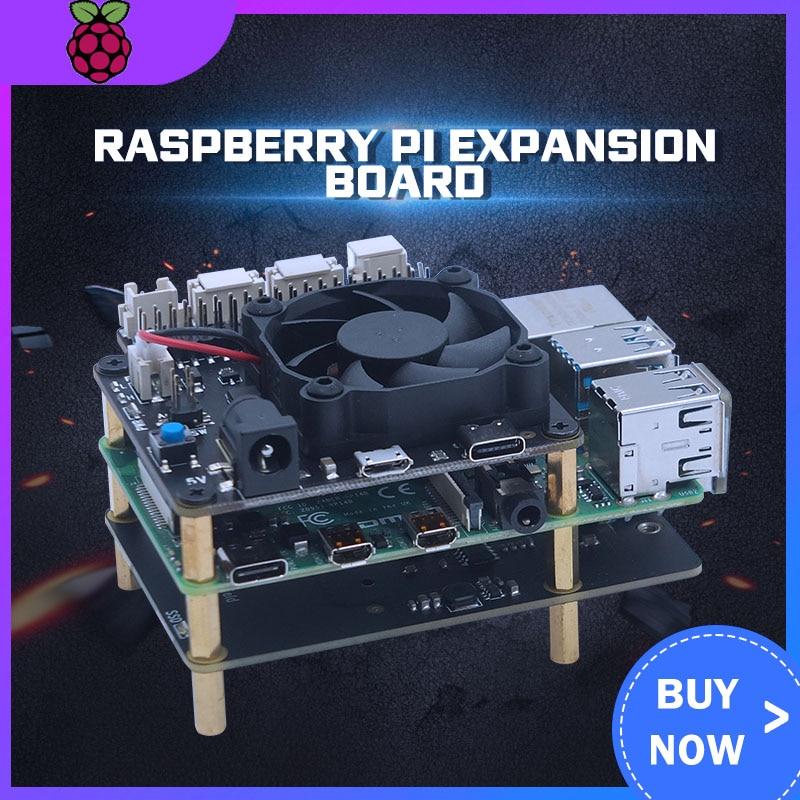 New Arrival Raspberry X856 V1.0 M SATA SSD Shield Expansion Board High-speed USB3.1 5Gb/s For Raspberry Pi 4B ( 4 Model B )