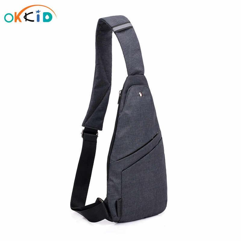 Mochila antirrobo para hombre, bolsa de hombro para hombre, pequeña bolsa de viaje impermeable para hombre, pequeña mochila para el pecho, pequeña bandolera, envío directo