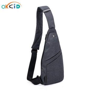 Male Anti-theft Bagpack Men Sling One Shoulder Bag Boy Waterproof Travel Small Chest Bag Slim Mini Crossbody Bag Dropshipping