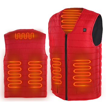 5 Heated Zones USB Heated Vest Washable Electric Heated Jacket Sleeveless Thermal Warm Waistcoat Control Temperature Ski Jacket 10