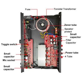 Усилитель мощности SUNBUCK 608BY, 2*100 Вт, Bluetooth, FM, USB 4